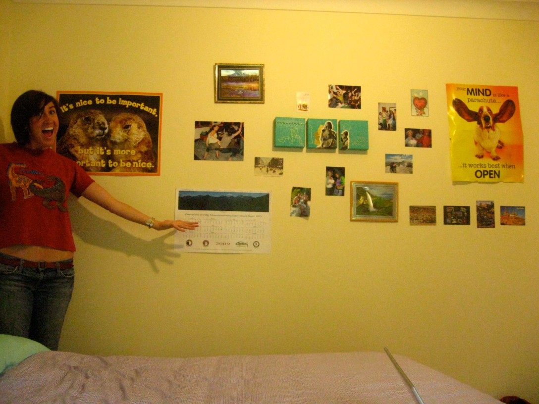 """Here is the wall compiled of all the amazing things my friends have sent!"""