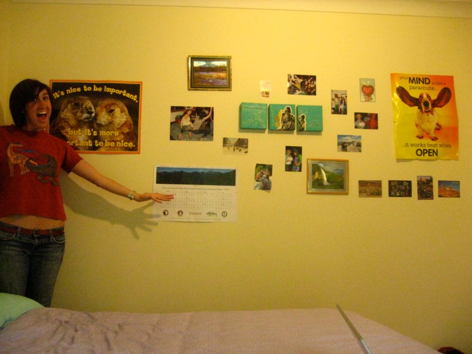 """""""Here is the wall compiled of all the amazing things my friends have sent!"""""""
