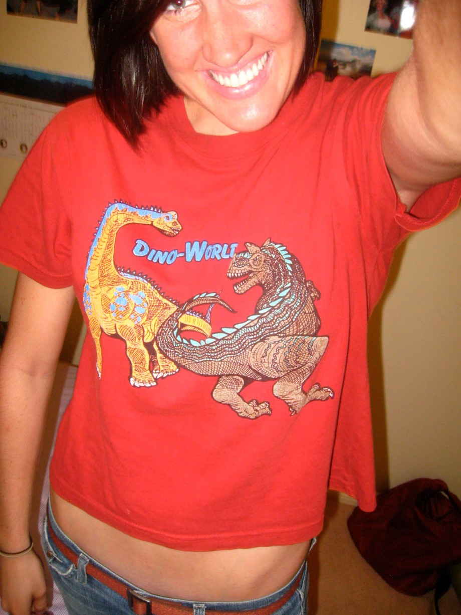 """""""I have to show off my awesome shirt that I got from Dabz... and how awesomely short it is!"""""""