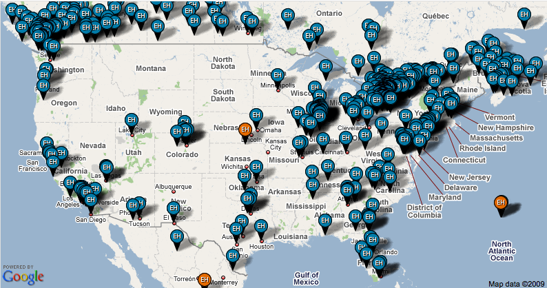 this is NOT an interactive map... but there IS one at http://www.earthhour.org/home/