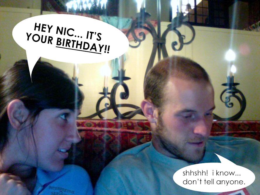 well... happy birthday.