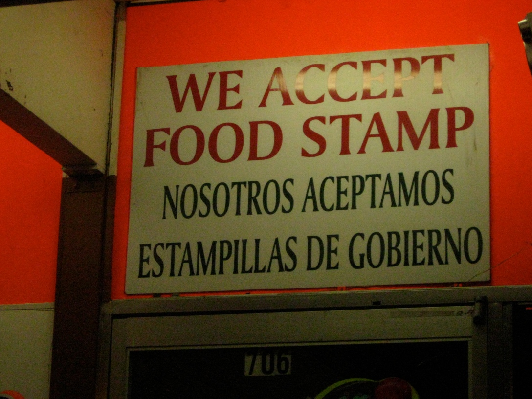 and we didn't have food stamp... not even one.