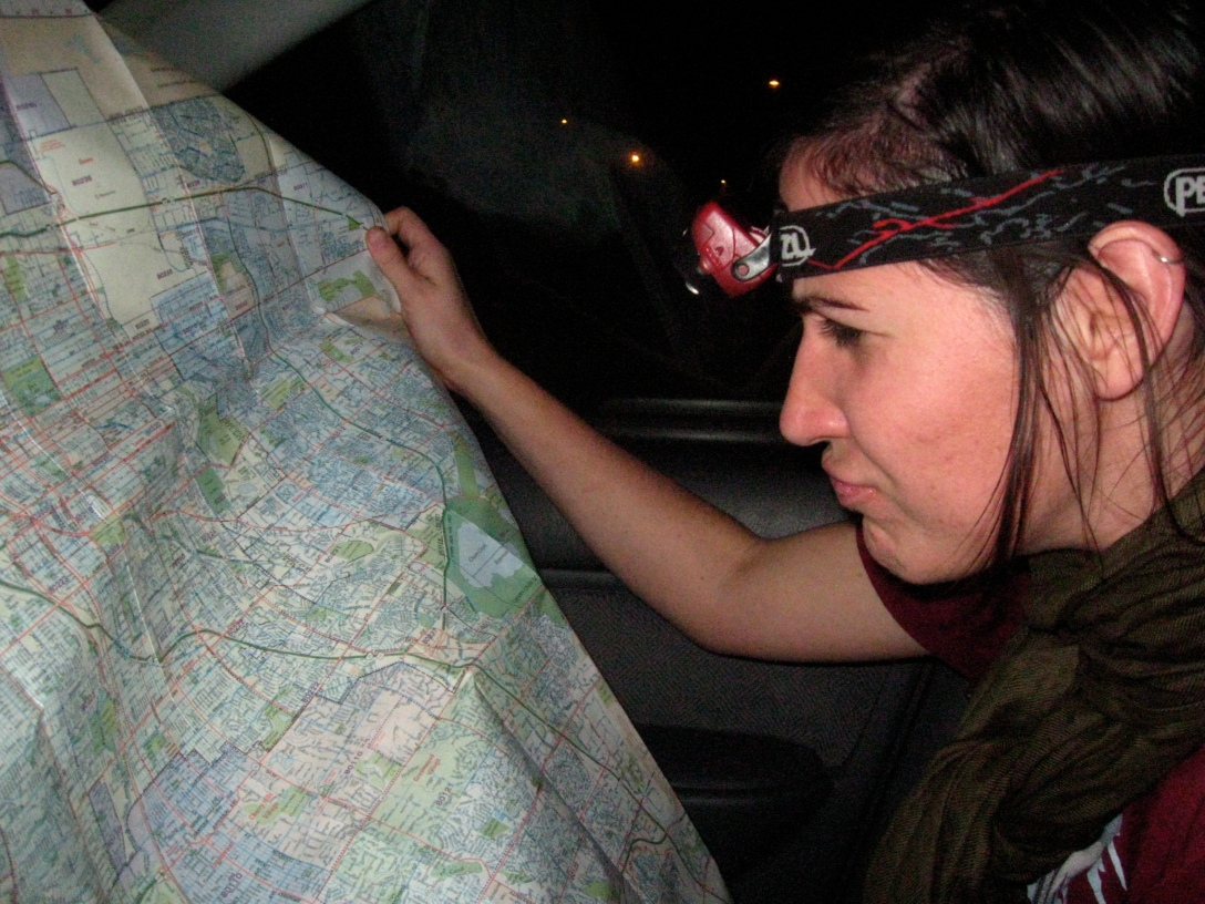 wait, where's the next diner? better get the headlamp out...