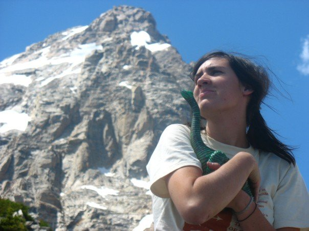 my true love, bronto, and myself in the tetons.