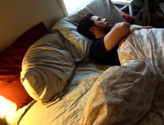ev sleeping during said five hours.